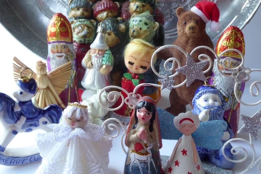 Kleine kerst attributen gevonden in kringloopwinkel