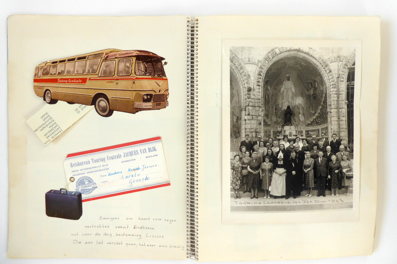 Plakboek Lourdes zuster Theresia